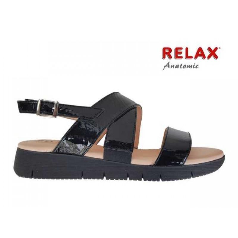 ... Δερμάτινα Παπούτσια Relax anatomic 10803-33 Μαύρα Γυναικεία Πέδιλα 1b3669169cd