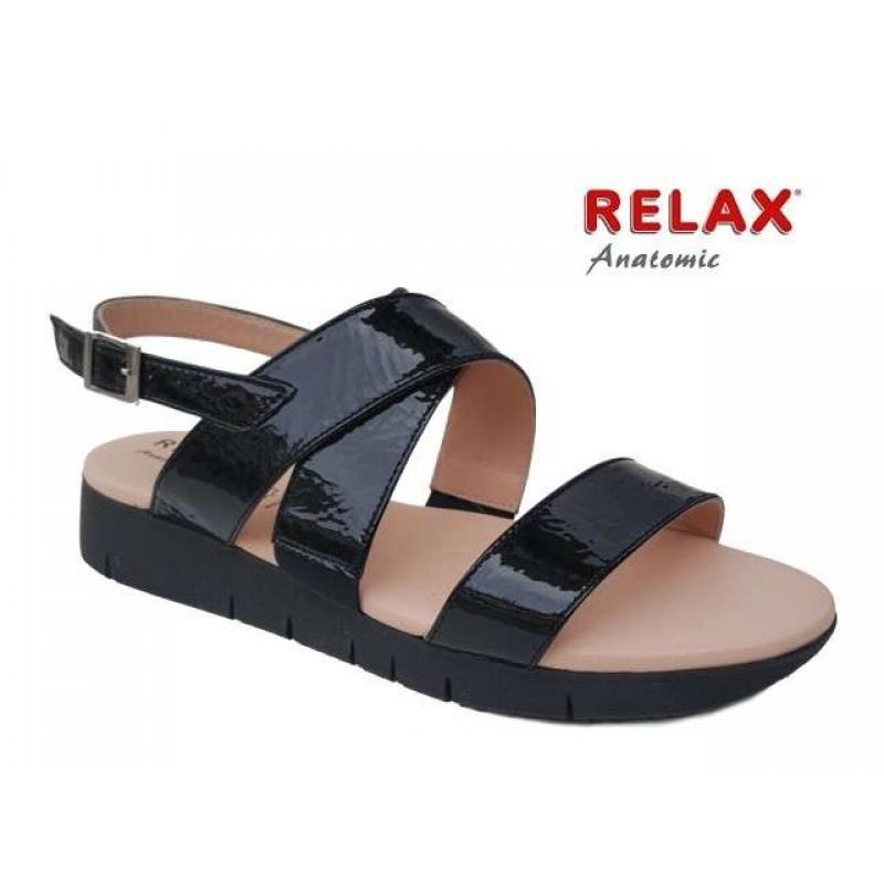 -25% Δερμάτινα Παπούτσια Relax anatomic 10803-33 Μαύρα Γυναικεία Πέδιλα a17666aab6f