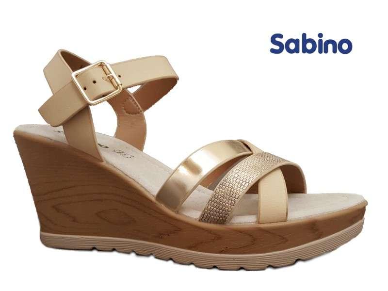Τελευταία Μεγέθη Sabino 5915-2 Μπεζ Γυναικεία Πέδιλα