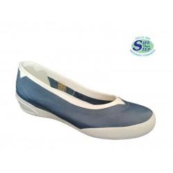 SAFE STEP 70106 Μπλε Γυναικεία Μοκασίνια 457845e91be