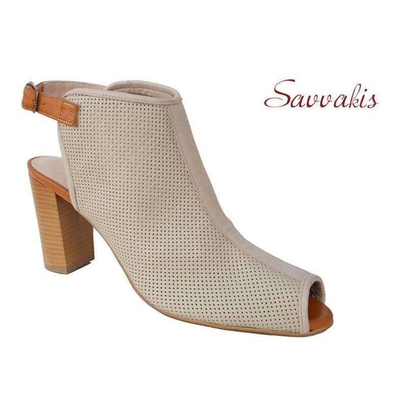 -50% Δερμάτινα παπούτσια SAV 7007 Μπεζ Γυναικεία Πέδιλα 6b626a25d77