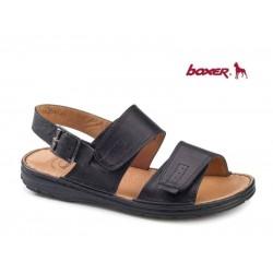 Ανδρικά Παπούτσια Boxer 17201 14-111 Μαύρα Δερμάτινα Πέδιλα