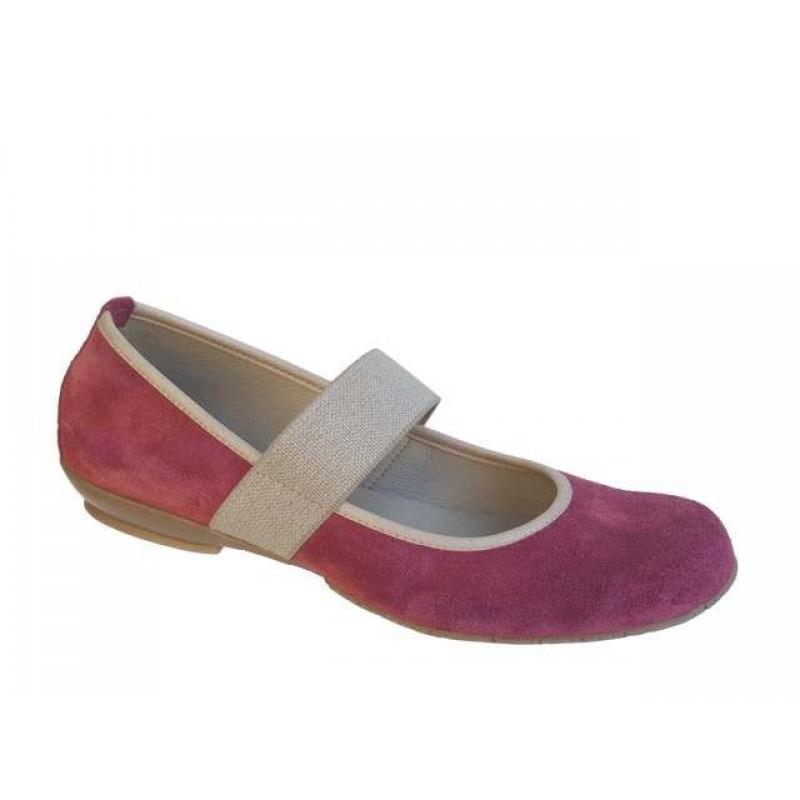 -36% Δερμάτινα Παπούτσια Female 011 Λιλά καστόρι Γυναικείες Μπαλαρίνες 96be5f6f2cb