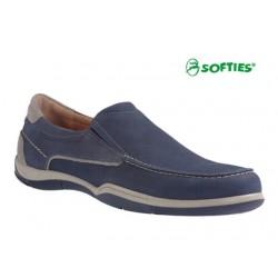 SOFTIES 6903 Μπλε δέρμα σαμουά