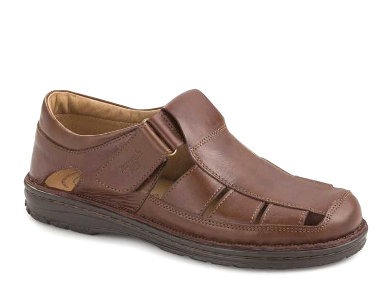 Δερμάτινα Ανδρικά Πέδιλα Παπουτσοπεδιλα Boxer shoes air 17200 14-119
