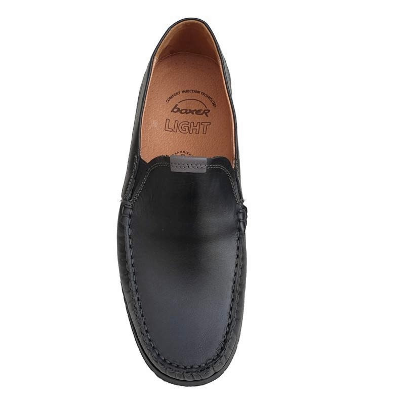 0f8f0727515 Boxer shoes 21152 14-111 Μαύρα Ανδρικά Μοκασίνια