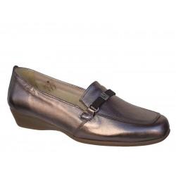 Γυναικεία Παπούτσια Boxer 52863 17-063 Μπρονζέ Δερμάτινα Μοκασίνια