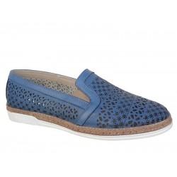 Boxer shoes 92042 17-016 Μπλε Γυναικεία Μοκασίνια