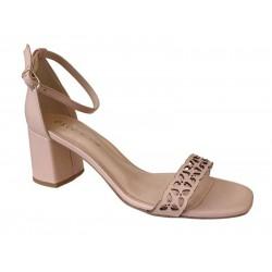 Δερμάτινα  Παπούτσια ESTE 50502 Γυναικεία Πέδιλα Nude