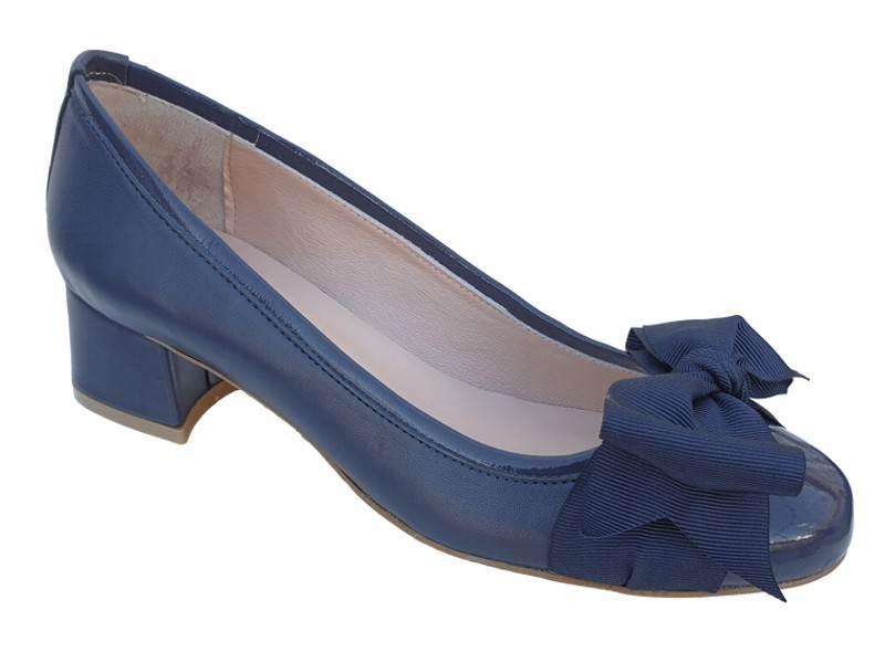 Παπούτσια ESTE | Μπλε Δερμάτινες Γυναικείες Γόβες | papoutsomania.gr