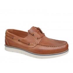 Ανδρικά Δερμάτινα Παπούτσια - Boat | Gallen shoes400 Ταμπά