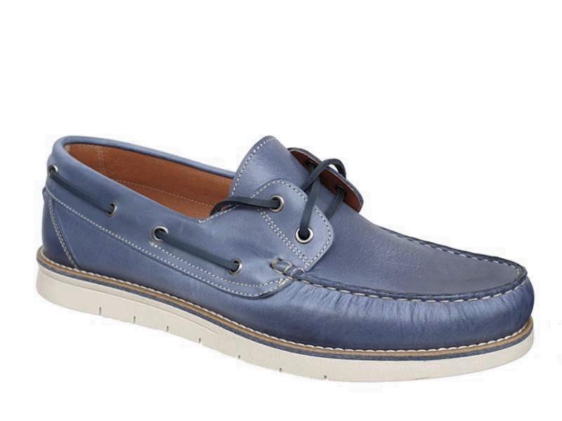Ανδρικά Σπορ Δερμάτινα Παπούτσια - Boat | Gallen 400 Μπλε