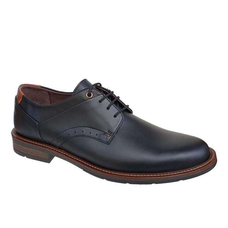2e39697f602 Gallen 501 Μαύρα Casual Ανδρικά Σκαρπίνια - Δερμάτινα Παπούτσια