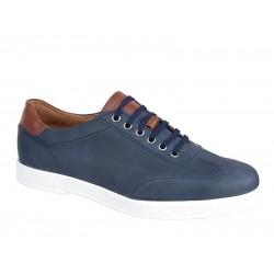 Casual Ανδρικά Δερμάτινα Παπούτσια | Gallen shoes 602 Μπλε