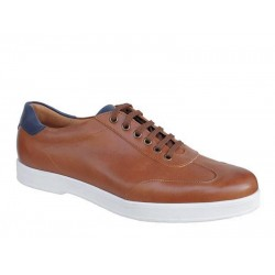 Casual Ανδρικά Δερμάτινα Παπούτσια | Gallen shoes 602 Ταμπά