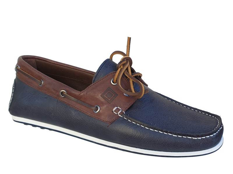 c819b4acfd1 Kricket shoes 559 Καφέ - Μπλε Ανδρικά Boat | Δερμάτινα Παπούτσια