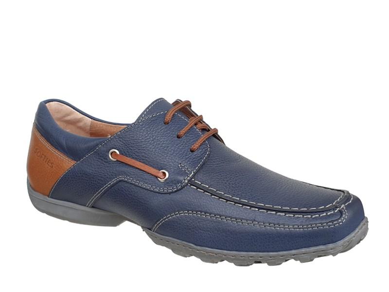 309b2a9de4f SOFTIES 6968 Μπλε | Ανδρικά Δετά Παπούτσια