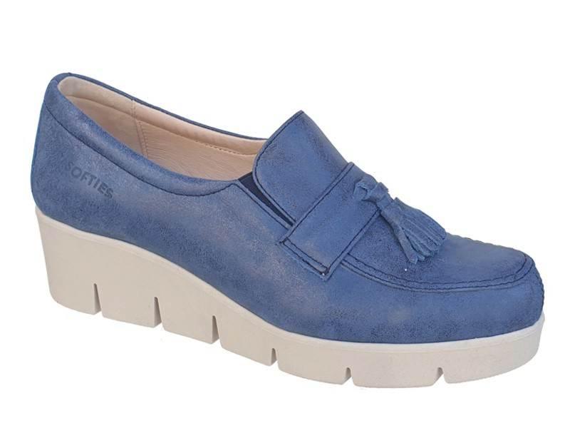SOFTIES 7113 Μπλε Σπορ Γυναικεία Μοκασίνια