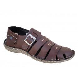 Boxer shoes 19010 10-014 Καφέ Ανδρικά Πέδιλα