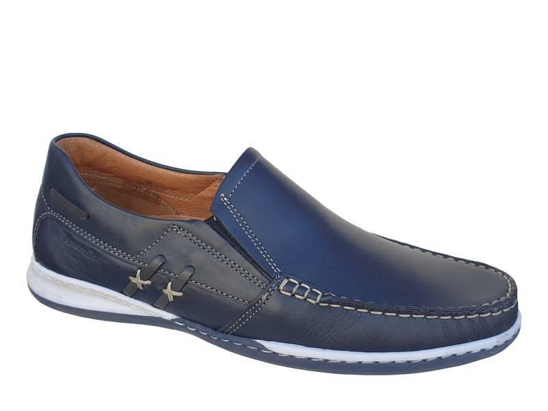 Ανδρικά Παπούτσια Boxer shoes 21177 12-016 | Μπλε Boat Μοκασίνια