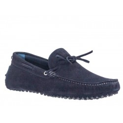 Ανδρικά Παπούτσια Kricket shoes 540 | Μπλε Δερμάτινα Μοκασίνια