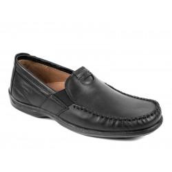 Boxer shoes 15333 14-111 Μαύρα  Ανδρικά Μοκασίνια