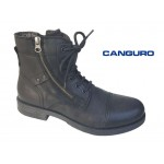 Canguro A026309 Μαύρα Ανδρικά μποτάκια