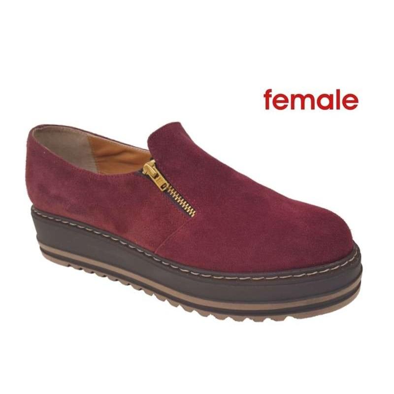 -36% Δερμάτινα Παπούτσια Female 5915 Μπορντό καστόρι Γυναικείες Πλατφόρμες cecee8f5806