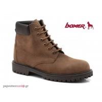 Boxer 03204 34-014 Καφέ ανδρικά μποτάκια