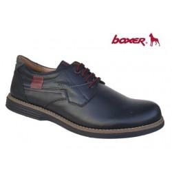 Ανδρικά Παπούτσια Boxer 41049 10-011 Μαύρα Casual Δερμάτινα Σκαρπίνια