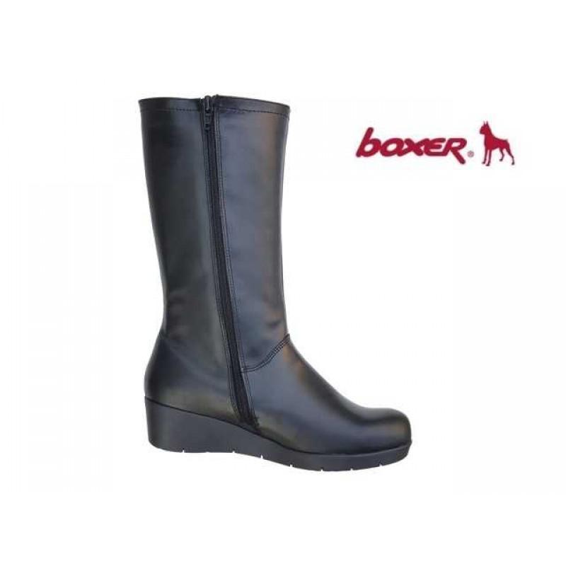 fdded0796b8 ... Γυναικεία Παπούτσια Boxer 52741 10-111 Μαύρες Δερμάτινες μπότες 3/4