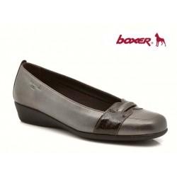 Γυναικεία Παπούτσια Boxer 52745 50-463 Μπρονζέ Δερμάτινα Μοκασίνια