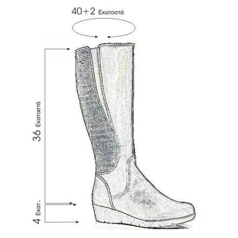 f47f76f2a76 Boxer 52749 10-011 Μαύρες Γυναικείες Μπότες
