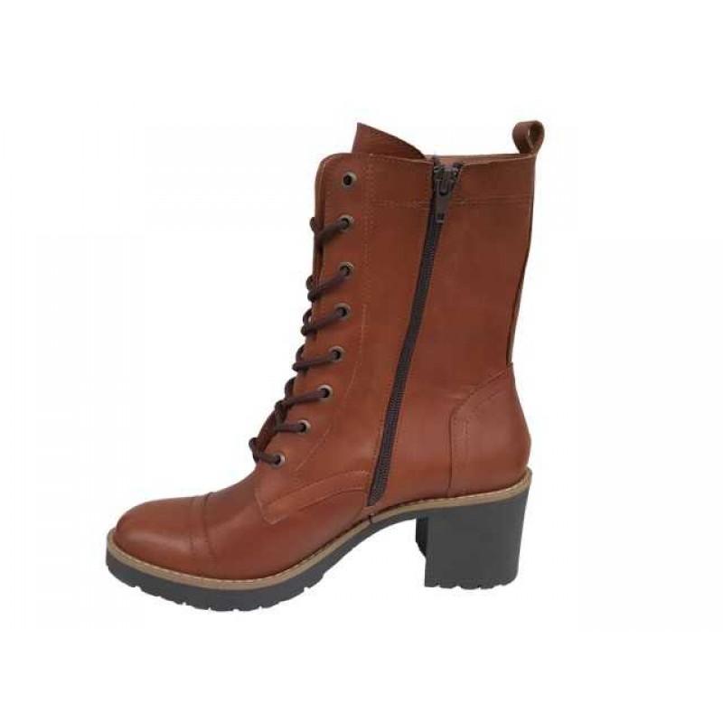4f51f36d9ce Δερμάτινα Παπούτσια FnDONNA 69873 Ταμπά Γυναικεία Μποτάκια Δερμάτινα  Παπούτσια FnDONNA 69873 Ταμπά Γυναικεία Μποτάκια