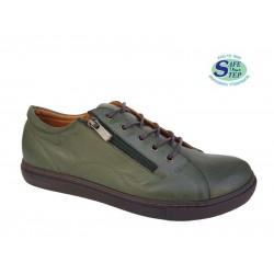 Γυναικεία Παπούτσια SAFE STEP 2203 Λαδί Δερμάτινα Μοκασίνια a4fa6802ef5