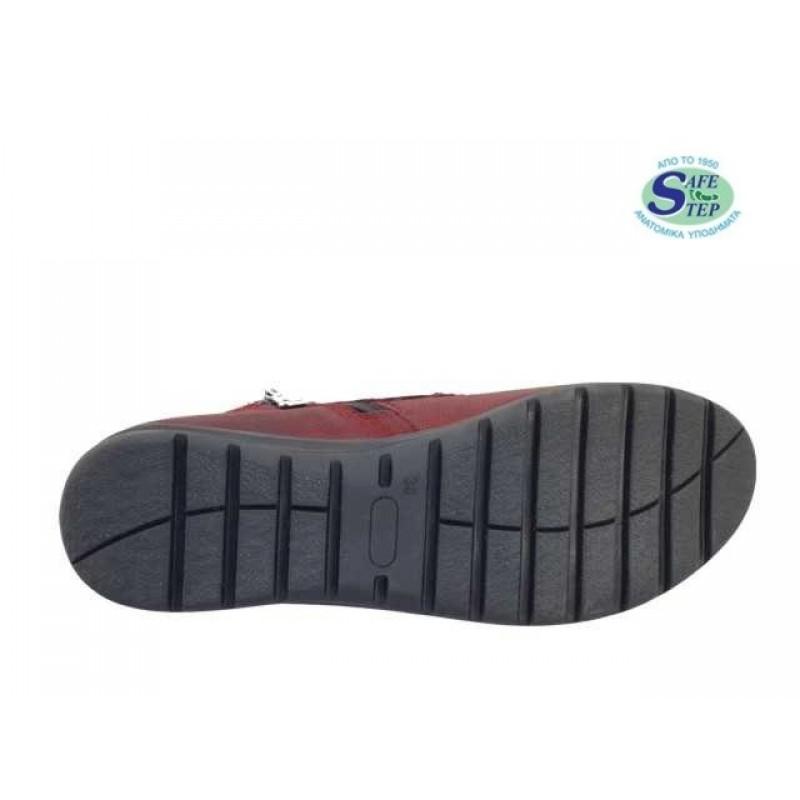 ... Δερμάτινα Παπούτσια SAFE STEP 6036 Μπορντό Γυναικεία Μποτάκια 248c7868f63