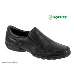 SOFTIES 6862 Μαύρο δέρμα