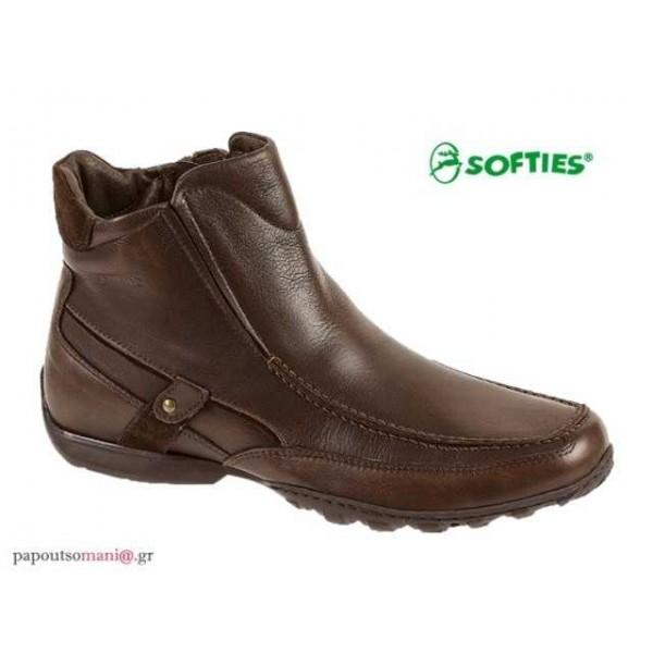 SOFTIES 6863 Καφέ δέρμα