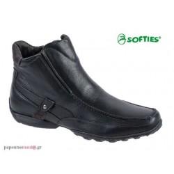 SOFTIES 6863 Μαύρο δέρμα