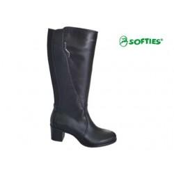 SOFTIES 7945 Μαύρο δέρμα