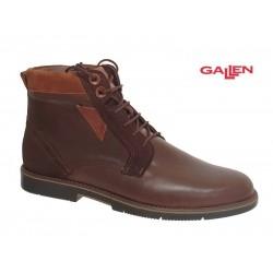 Ανδρικά Παπούτσια Gallen 510 Καφέ Casual Δερμάτινα Μποτάκια