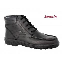 Ανδρικά Παπούτσια Boxer 01533 18-111 Μαύρα Δερμάτινα Ημίμποτα Δερμάτινα