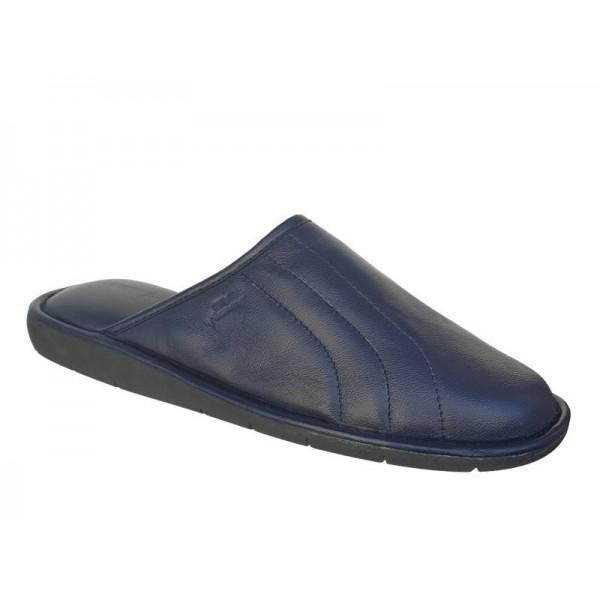Boxer 18030 12-016 Μπλε Χειμερινές Ανδρικές Παντόφλες