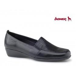 Γυναικεία Παπούτσια Boxer 52743 50-411 Μαύρα Δερμάτινα Μοκασίνια