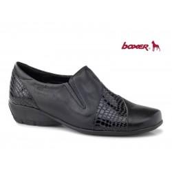 Γυναικεία Παπούτσια Boxer 52827 17-011 Μαύρα Δερμάτινα Μοκασίνια
