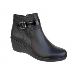 Δερμάτινα Παπούτσια Boxer 58795 10-011 Μαύρα Γυναικεία Μποτάκια