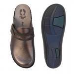 Γυναικεία Παπούτσια FILD Anatomiko Brigita - 03 Ατσαλί Παντόφλες - Σαμπό