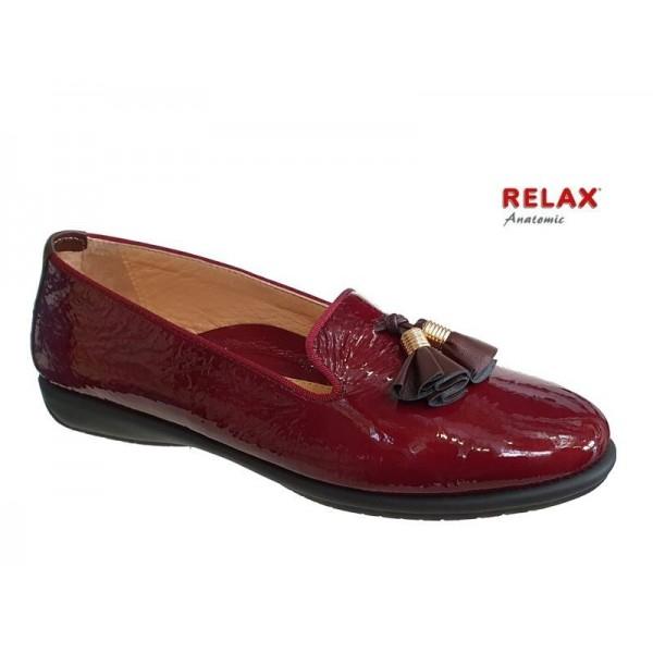 Γυναικεία Παπούτσια Relax anatomic 1232-36 Μπορντό Δερμάτινα Μοκασίνια
