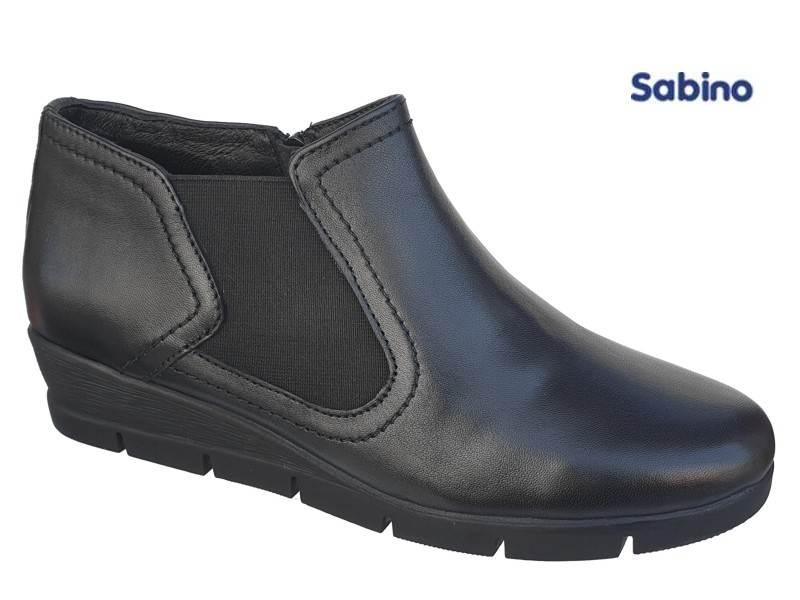 5da1745a4bd Sabino SB1590 Μαύρα Γυναικεία Μποτάκια