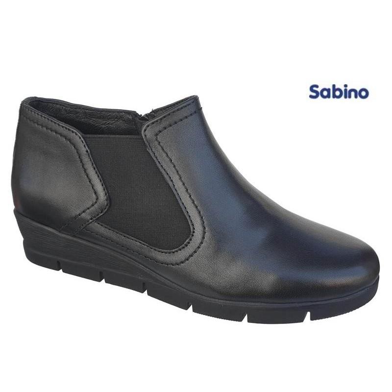 a22f14503ee Sabino SB1590 Μαύρα Γυναικεία Μποτάκια - papoutsomania.gr